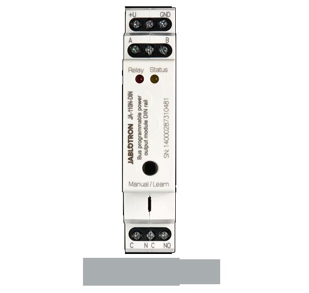 JA-110N-DIN Bus DIN power output module