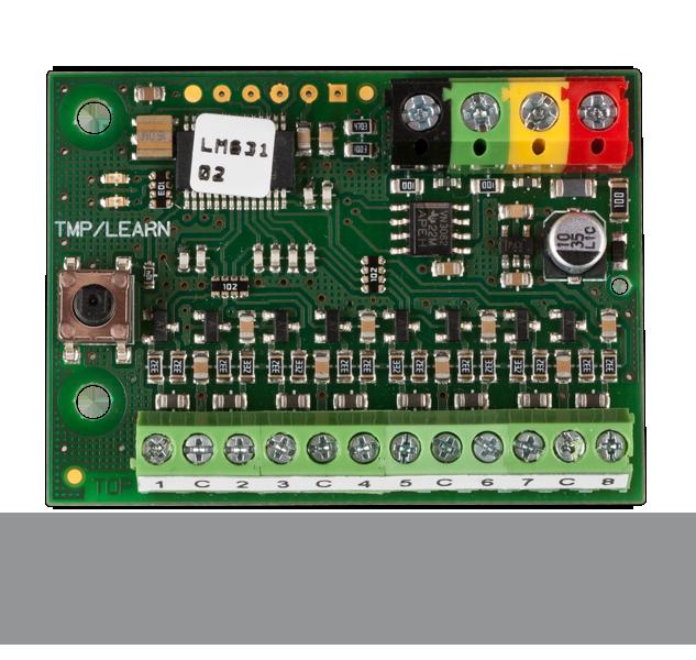 JA-118M BUS module for magnetic detectors - 8 inputs
