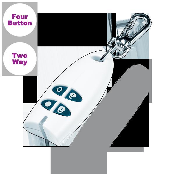 JA-186JW Key fob remote control – white