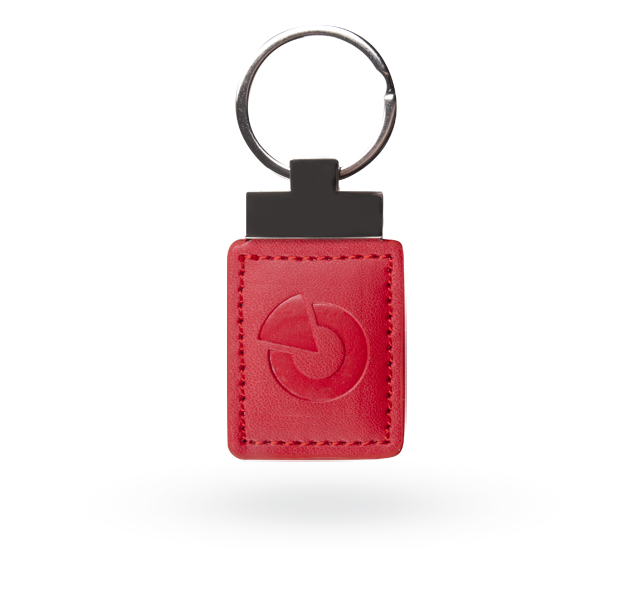 JA-194J-RE RFID leather tag - red