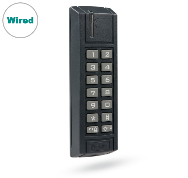JA-123E BUS outdoor access module with RFID and keypad