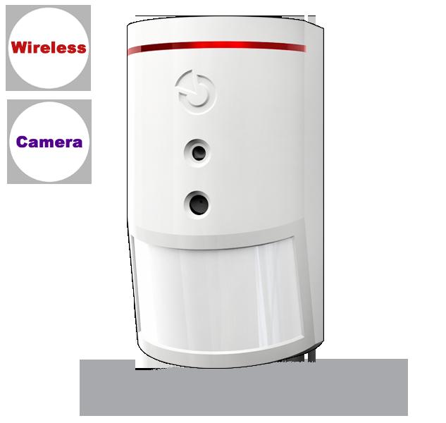 JA-160PC (90) Wireless PIR motion detector with 90° photo-verification camera
