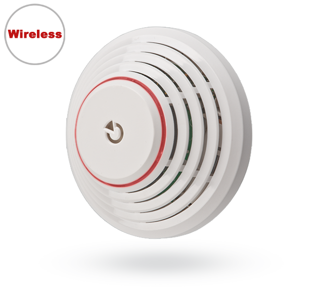 JA-63S-100 Wireless optical smoke and heat detector for the JA-100 system