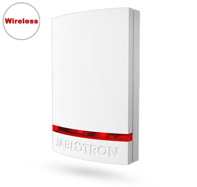 JA-151A-WH Wireless outdoor siren - White Cover (Red LED)