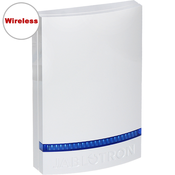 JA-163A-BL Bus external siren - White Cover (Blue LED)